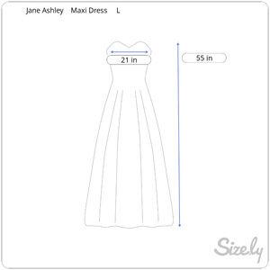 Jane Ashley Dresses - T Linen Maxi Shift Dress Embroidered Sleeveless L